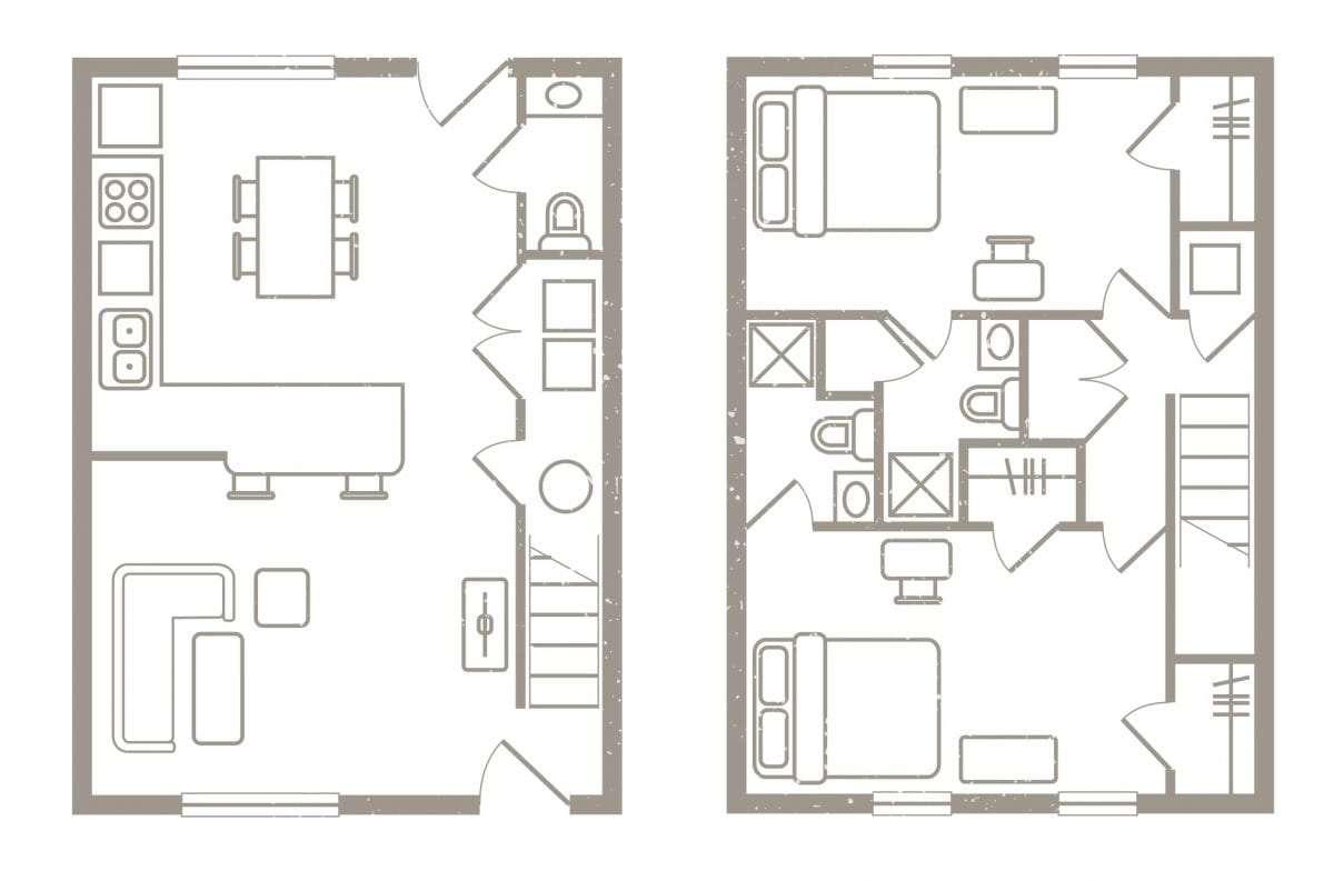 2 Bedroom Floorplan 1