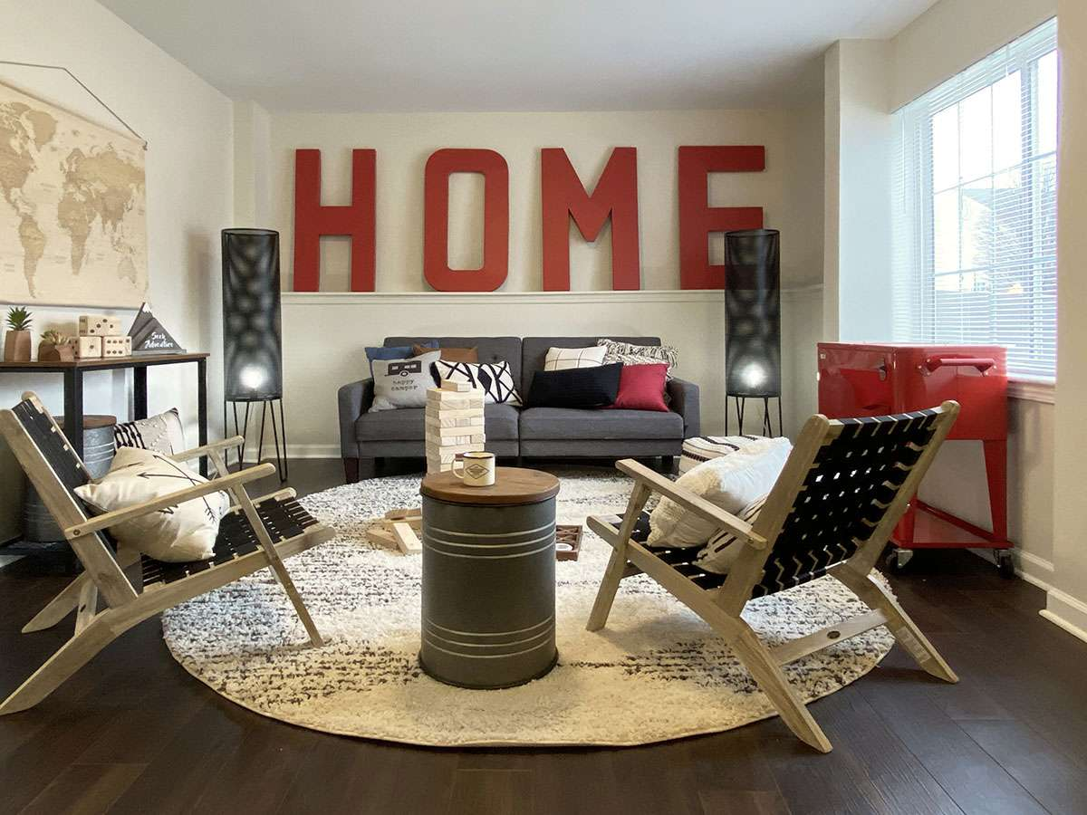 Livingroom at Redpoint West Lafayette